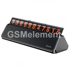 Автовизитка Baseus ACNUM-A0S для указания одного телефонного номера, серебро