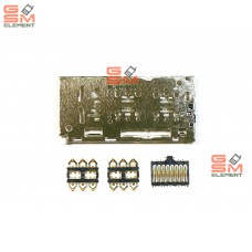 Коннектор SIM+MMC Samsung A105F/A205F/A307F/A505F/A750F/A920F/M105F/M205F
