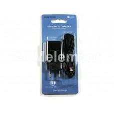 СЗУ BoroFone BA20A (USB выход 2.1 A + кабель Apple 8 pin), чёрный
