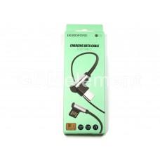 USB датакабель Type-C Borofone BU5 (3.0 A/1.2 m) силикон, угловой, чёрный