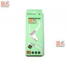 USB датакабель Type-C Borofone BU5 (1.2 m) силикон, угловой, белый