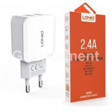 СЗУ LDNio A2202 (2 USB выхода/ 2.4 A) белый