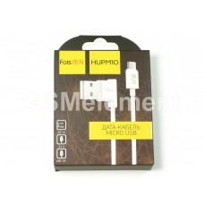 USB датакабель micro USB Faison HUPM10 L-образный дизайн (2.1 A, 1.2 m) белый