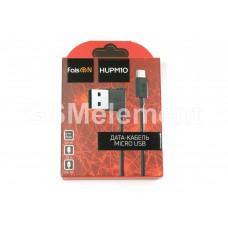 USB датакабель micro USB Faison HUPM10 L-образный дизайн (2.1 A, 1.2 m) чёрный