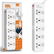 Сетевой фильтр LDNio SC5006 Defender Series (2500W, 5 розеток, 2.0 m) белый