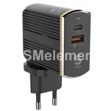 СЗУ LDNio A2502C (USB QC3.0 + PD (3A/36W) + кабель USB-C), чёрный