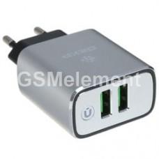 СЗУ Dexp CA-29 (2*USB 3.1 A), серый, оригинал