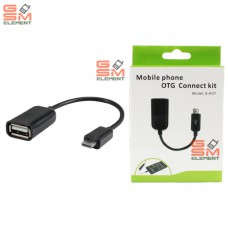 OTG переходник Micro USB чёрный S-K07