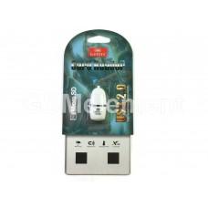 Кардридер Earldom ET-OT26 для microSD, белый с чёрной полоской