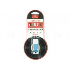 Кардридер Earldom ET-OT25 для microSD, белый/голубой