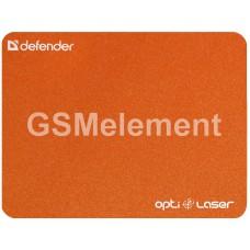 Коврик для мыши Defender Opti-Laser, каучук, оранжевый (220x180x0.4mm)