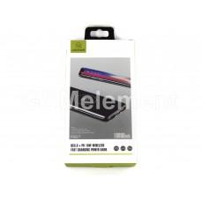 Внешний аккумулятор Usams PB27 10000 mAh (2*USB, PD, QC3.0 + беспроводная зарядка), черный