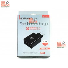 СЗУ Exployd EX-Z-436 (3*USB, 5.5 A, Quick Charge 3.0), чёрный