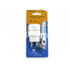 СЗУ BoroFone BA24A (2*USB, 2.4 A, кабель micro USB), белый