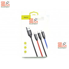USB датакабель 3 в 1 для Apple 8 pin/Type-C/micro USB Baseus Three Primary Colors (0.3 m, 3.5 A)