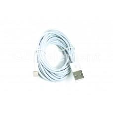 USB датакабель для Apple 8 pin Lightning, (3.0 m), белый, в техпаке AA