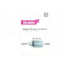 OTG переходник Type-C OLMIO, USB 3.0, цвет серебро