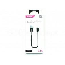 USB датакабель mini USB OLMIO (2.1 A/1.0 m), чёрный