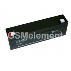 Аккумулятор свинцовый 12V-2.2Ah 177х33х60 Delta DT12022