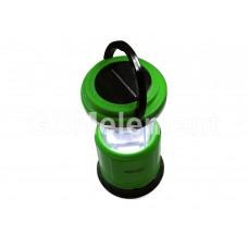 Фонарь светодиодный для пикника Облик 6014 (АКБ 4V/2A + солнечный элемент, USB зарядка), зелёный