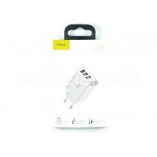 СЗУ Baseus NRT-DY035 (3*USB, 3.4 A max, вольтметр, Fast Charge), белый