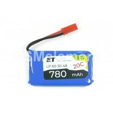 АКБ высокотоковая Energy Technology LP 603048 20C 3,7v Li-Pol 780 mAh