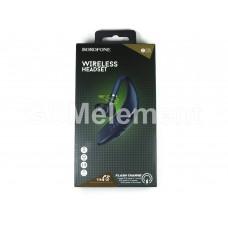 Bluetooth гарнитура Borofone BC25 Wonderful, (11h/200h/BT V5.0), синий