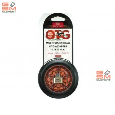 OTG переходник Micro USB Earldom ET-OT01, металл, золото