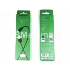USB датакабель micro USB Borofone BX19 (1.0 m) силикон, чёрный