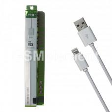 USB датакабель Apple 8 pin Lightning LDnio SY-03 (1.0 m, 2.1 A), силикон, круглый, белый
