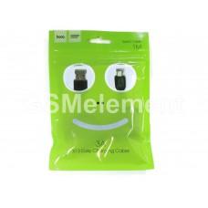 USB датакабель Type-C Hoco X13 Easy (3.0 A/ 1.0 m) силикон, круглый, чёрный