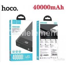 Внешний аккумулятор Hoco DB119, 40000 mAh (2*USB-A, micro/Type-C, дисплей, фонарь), чёрный