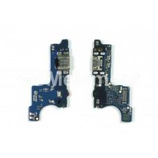 Шлейф Samsung A015F (A01)/ M015F (M01) на системный разъём (узкий коннектор шлейфа), оригинал