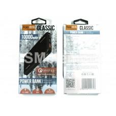 Внешний аккумулятор Faison FS-PB-896, 10000 mAh (2*USB-A, micro/Type-C, Fast Charge QC 3.0.), чёрный
