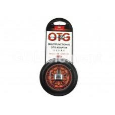 OTG переходник Micro USB Earldom ET-OT01, металл, серебро