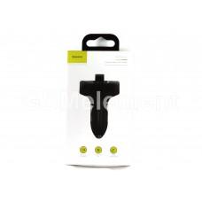 FM-модулятор Baseus S-09 T-typed (Bluetooth/ 2*USB 3.4A max), чёрный