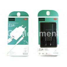 СЗУ Maimi T13 (USB выход 5 V/2.1 A + кабель micro USB), чёрный