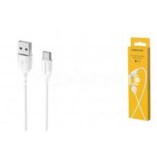 USB датакабель Type-C Borofone BX19 (3.0 A/1.0 m) силикон, белый