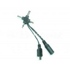 Переходник для зарядки с 5.5*2.1 mm универсальный (5 коннекторов)