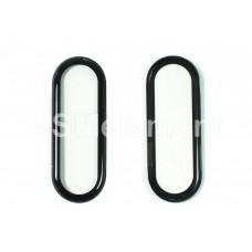 Защитное стекло-плёнка для Xiaomi Mi Band 4 полное покрытие 3D, чёрное