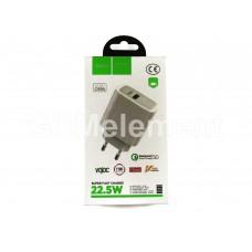 СЗУ Hoco C69A (USB выход 5V/4A, 9V/2A QC 3.0/Fast Charge), белый
