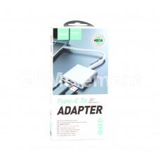 USB HUB Type-C+PD, Hoco HB14, (USB 3.0, HDMI), чёрный