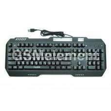 Клавиатура проводная мембранная FaisOn, Mechanics KB521, с подсветкой, чёрный