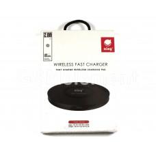 Беспроводное зарядное устройство Ainy EF-043A, 1200 mA, Qi, Soft Touch, чёрный