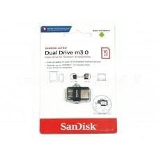 USB флеш-накопитель 16Gb SanDisk Dual Drive m3.0 (micro USB, OTG)