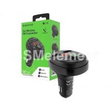 FM-модулятор Borofone BC26 (Bluetooth/ 2*USB 2.1 A/ дисплей), чёрный