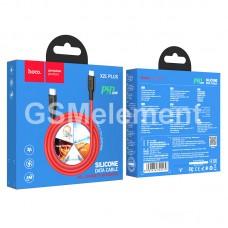 USB датакабель Type-C (m) - Lightning (m), Hoco X21 Plus, (PD 20W/ 3.0 A/ 1.0 m), black/red