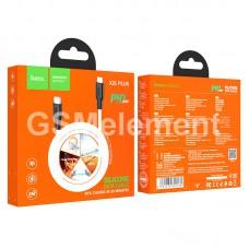 USB датакабель Type-C (m) - Lightning (m), Hoco X21 Plus, (PD 20W/ 3.0 A/ 1.0 m), white/black