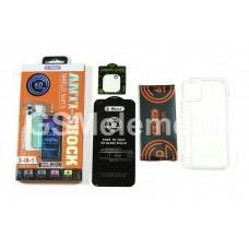 Набор 3-in-1 для Apple iPhone 12, G-Rhino, (защитное стекло 6D на дисплей + камеру + чехол)