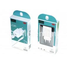 СЗУ Maimi T13 (USB выход 5 V/2.1 A + кабель micro USB), белый